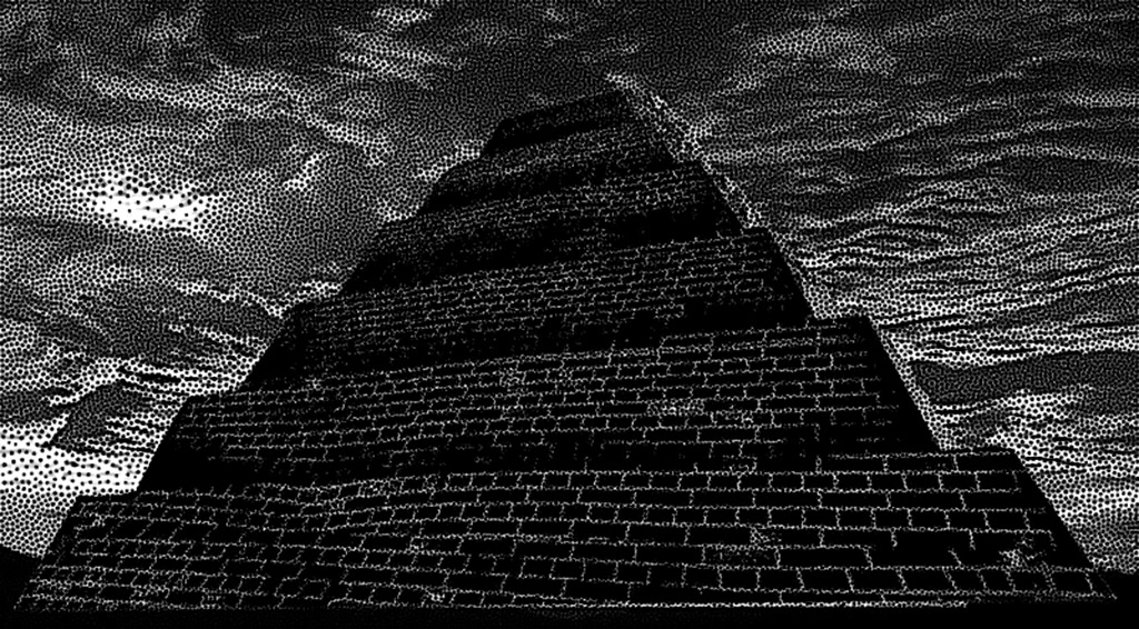 sacrificial pyramid from Dark Sun, Bright Moon